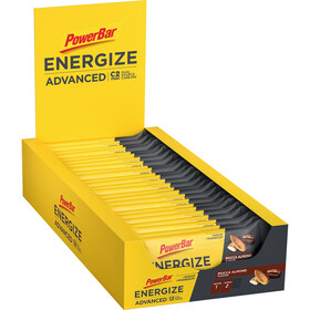 PowerBar Energize Advanced Boîte de barres 25x55g, Mocca Almond